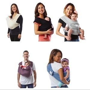 Baby K'tan Baby Wrap Carrier - Heather Gray-XS
